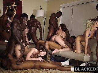 very kinky interracial group sex