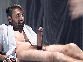 Big ass slut gets her hands on a massive dick