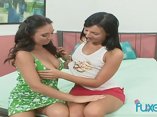Horny beautiful girlfriends enjoy eating each others delicious wet pussies