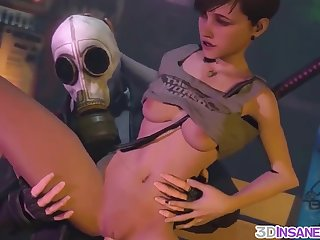 Big boobs lesbians with strapon fucking doggystyle