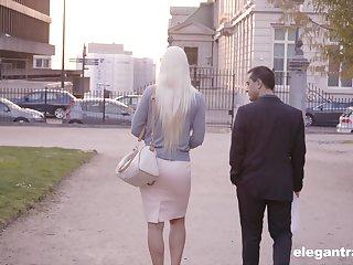 Hardcore anal cowgirl fuck with blonde mature MILF Blanche Bradburry