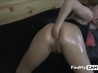 Blonde Baby Fisting Her ASS