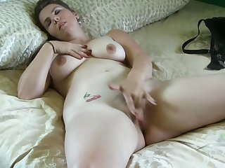 Leopard Panties - big mammaries babe solo video