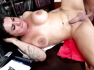 Student knows busty professor has a penis and adores anal banging