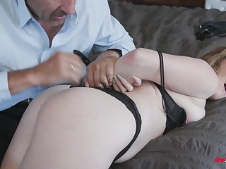 Britney Light bent over for a fuck after giving a sloppy blowjob