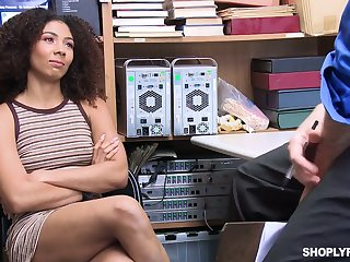 Sweet looking babe Nia Nixon is fucked and punished for shoplifting