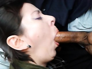 Cute MILF Allure enjoys the POV fuck and blowjob