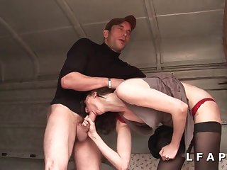 French Amateur Sex Mommy Bitch Gets Hard Double Fuck