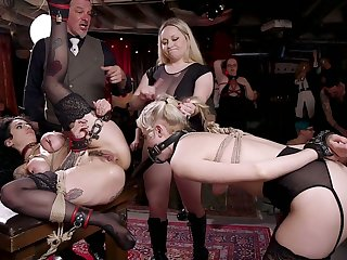 Curvaceous Chloe Cherry is turned into bondage whore who needs hard fuck