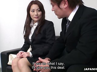 Hot office slut gets what she has been promised and man she's so insatiable