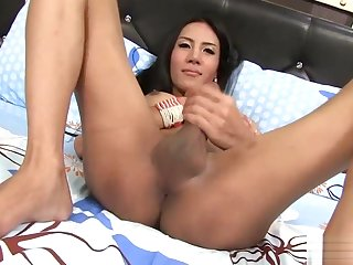 Ladyboy Ja Ass-Toyed and Frottage