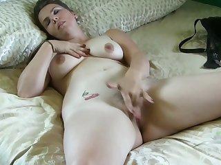 Leopard Panties - big mammaries babe solo video