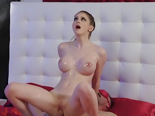 Bunny Colby is on the edge of orgasm with so much cock in her