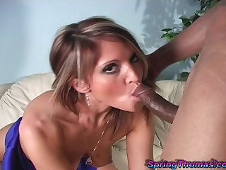 After she prepares cunt Spring Thomas is ready for rough sex with a guy