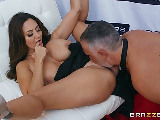 Perfect mature goddess, insane cock riding on a younger dong