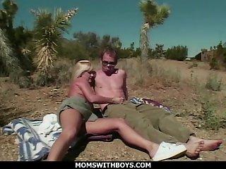MILF Blonde Outdoor Desert Sex With fr