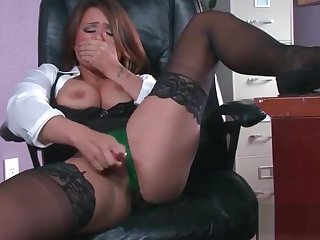 Sex Tape With Slut Busty Hot Office Nasty Girl (Eva Angelina) video-21