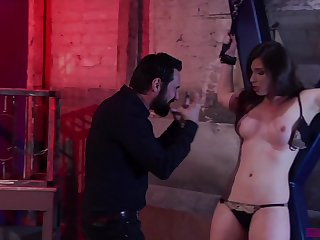 Tied brunette Casey Calvert is more than ready for unforgettable sex games