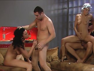 Two husbands switch their hot wives Bijou and Kristi Lust