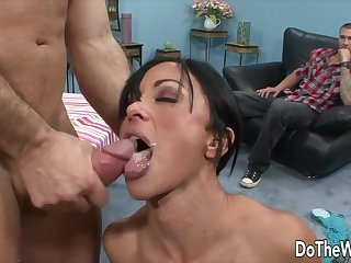 Housewives Taking Cumshots in Front of Cuckolds Compilation 1
