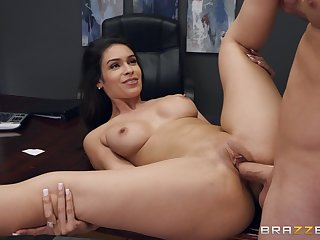 Strong sex at the office with the sexy secretary