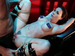 Obedient woman leaves her man to dominate her and hurt her