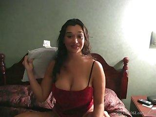 Marvelous amateur babe milks a cock in a close up pov shoot