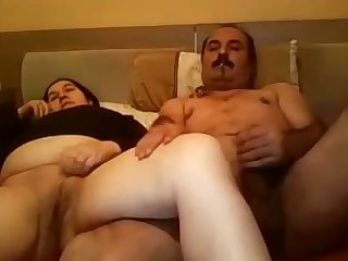 Horny Turkish man fucks a chubby prostitute in missionary position