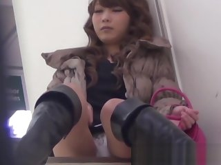 Japanese chick uses toys to pleasure herself on hidden cam