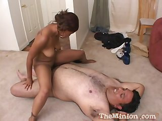 Man's fat dick suits the ebony amateur with the right fucking