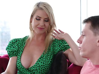 Fabulous busty blonde MILF Kit Mercer just loves some horny doggy fuck
