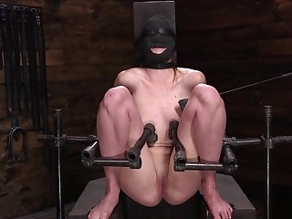 Blindfolded Ashley Lane gets whipped