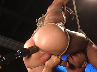 Vincent O'Reilly assumes the submissive role during hot bondage play