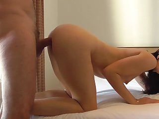 Hidden cam in sex photosession with hot Sasha Sparrow