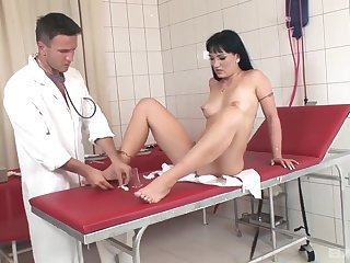 Slut gets beef injection after pussy exam