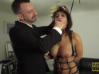 Brutal guy shows Princess Jas her place and beats her pussy up