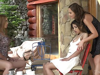 Lesbian ass worship during threeway for Tina Kay, Roxy Lips and Kaisa Nord