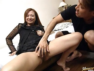 Dick hungry Japanese girlfriend MAO enjoys getting fucked gently