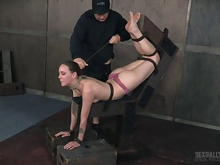 Cock hungry amateur babe Sierra Cirque gets tied up and fucked