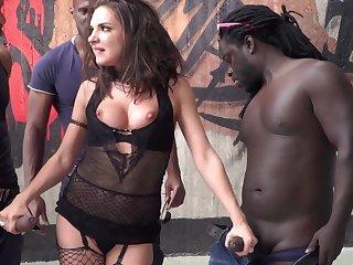 Hardcore interracial gangbang with cum loving slut Henessy