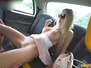 Giant Juggs Jiggle in the Backseat of a FakeTaxi