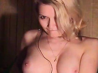 Nice russian girl masturbates and cums
