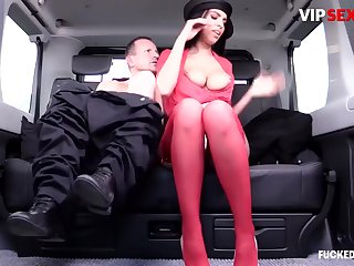 George Uhl And Kira Queen - Big Tits Milf Fucks Her Driver In The Car